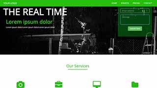 Šablona webu Green Fire