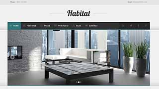 Šablona webu Habitat