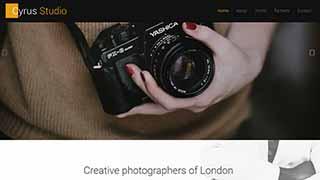 Šablona webu Photography
