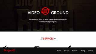Šablona webu Video Ground